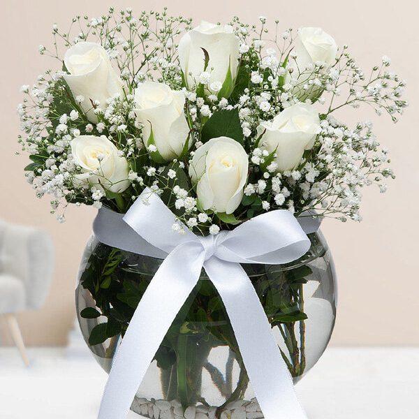 Kırıkkale Akvaryumda Beyaz Güller