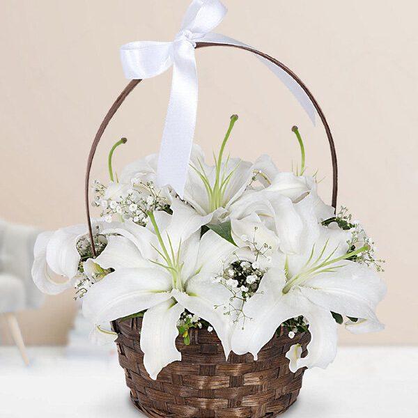 Kırıkkale Beyaz Lilyum Sepeti