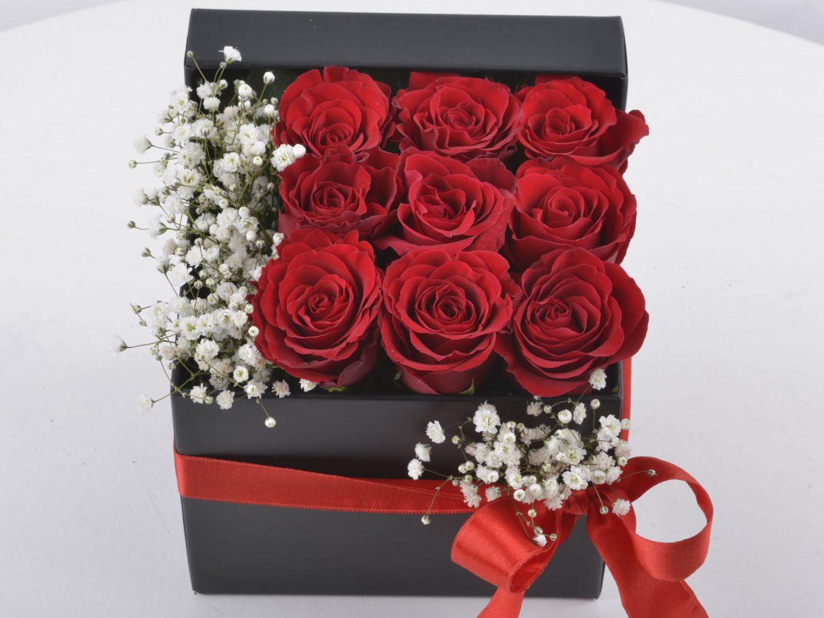 Seni Çok Seviyorum Hediyelik Kutuda Kırmızı Güller