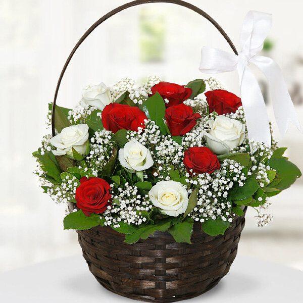 Kırıkkale Çiçekli Gül Sepeti