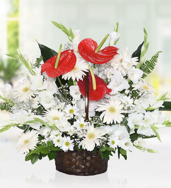 Antoryum Gerbera Sepeti, Kırıkkale Çiçek